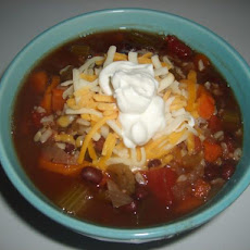 Crock Pot Black Beans and Rice Soup