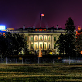 The White House - HDR by Pete Daley - Buildings & Architecture Statues & Monuments ( hdr, night time, picture perfect, long exposure, white house )