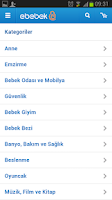 Screenshot of ebebek