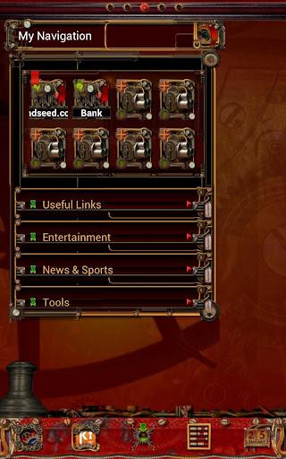 Steampunk GO Bookmark Theme