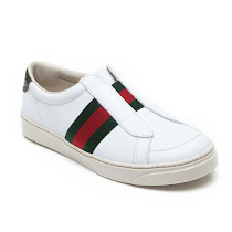 Gucci White Leather Trainer TRAINER