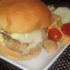 Chicken Cordon Bleu Burgers