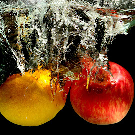 by Joshua Yeo - Food & Drink Fruits & Vegetables ( water, fruit, splash, drop, food, fruit splash, hungry )