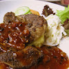 Lamb Chop with Rosemary sauce served with Mashed Potato & Coleslaw