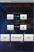 Screenshot of Speed Volume