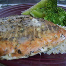 Maple Thyme Mustard Salmon