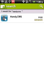 HandyCMS - screenshot
