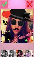 Screenshot of stickers + photo edit