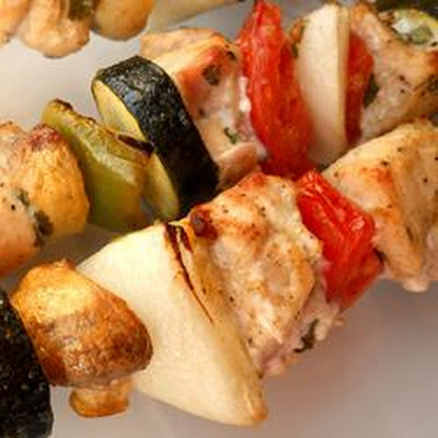 Chicken Kabobs Mexicana