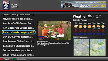 Screenshot of MY FOX Detroit News Google TV