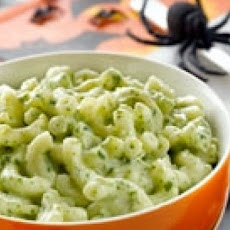 Halloween Green and Gooey Macaroni and Cheese