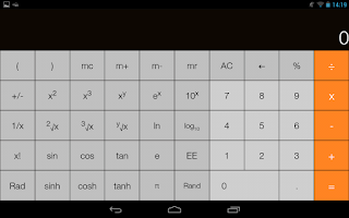 Screenshot of iOS7 Calculator