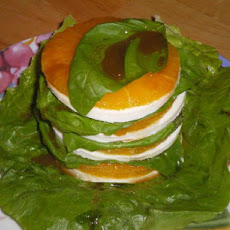 Orange and Mozzarella Towers With Orange Balsamic Vinaigrette