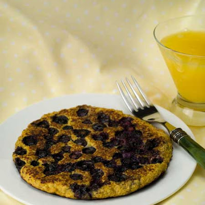 Gluten Free Blueberry Flax Meal Pancake