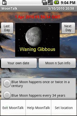 Moon and Sun phase rise set..