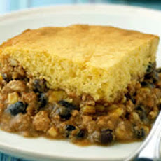 Super Fast Chili Cornbread Pie