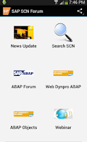 Screenshot of SAP SCN