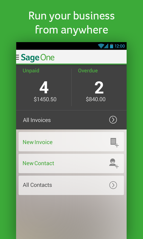Sage One Screenshot 1