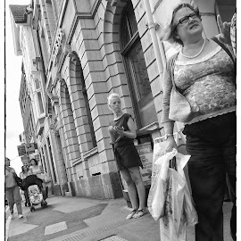 Candid BW by Roy Branford - People Street & Candids ( black and white, street scene, nik software, people, topaz labs, photoshop )