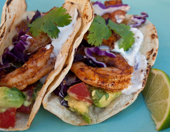 Grilled Shrimp Tacos with Avocado Salsa Recipe | Yummly