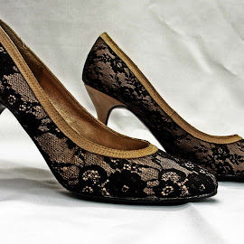 Lace high heels by Michael Moore - Artistic Objects Clothing & Accessories ( shoes, fashion, high heels,  )