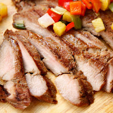 Grilled Pork Tenderloin with Pineapple and Bell Peppers Recipe