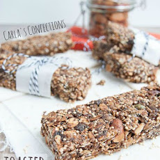 Toasted Granola Bars with Quinoa, Chia and Flax Seeds