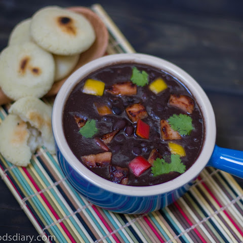 Black Bean Soup with Smoked Pork Chop