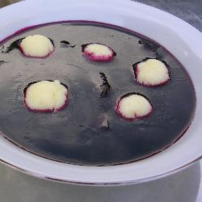 Elderberry Soup With Farina Dumplings