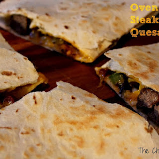 Oven Baked Steak Fajita Quesadillas