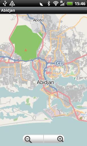 Abidjan Street Map