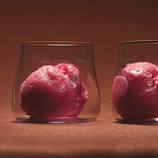 Cranberry and Vanilla Bean Sorbet