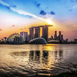 Skyline of Singapore by Charles Ong - City,  Street & Park  Skylines
