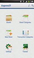 Screenshot of ExpensIT