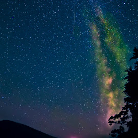 Milky Way meteor shower by Jeffrey Genova - Landscapes Weather ( stars, meteor, night sky, arkansas, milky way )