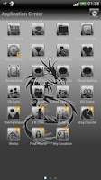 Screenshot of Tribal Dragon theme GO SMS Pro