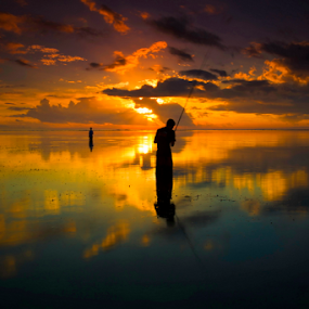 Reflection fishing by Lim Darmawan - Landscapes Sunsets & Sunrises