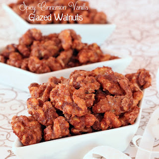 Spicy Cinnamon Vanilla Glazed Walnuts