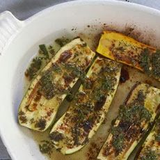 Roasted Zucchini with Chili-Mint Vinaigrette
