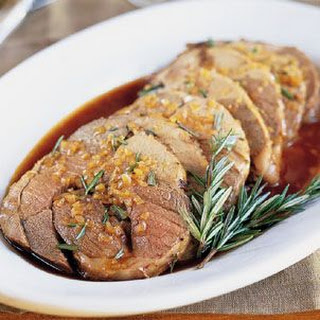 Rosemary-Roasted Leg of Lamb with Balsamic Sauce