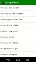 Screenshot of Traffic Penalty
