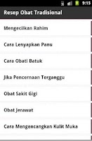 Screenshot of Resep Obat Tradisional