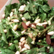 Arugula, Pine Nuts and Parmesan Salad
