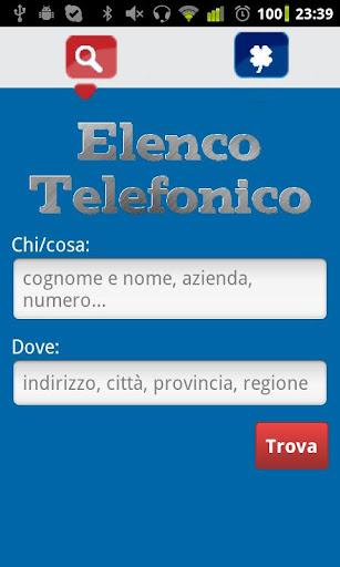 Elenco Telefonico free