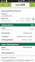 Screenshot of Migros Bank E-Banking Phone