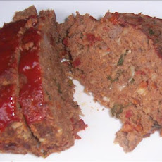 Italian Meatloaf With Fresh Basil and Provolone