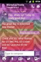 Screenshot of GO SMS Theme Zebra