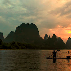 Ahead of morning on the Li river by Muhasrul Zubir - Landscapes Travel