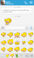 Screenshot of GO SMS MANGO ANIMATED STICKER