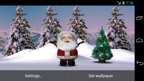 Screenshot of Santa Face Live Wallpaper